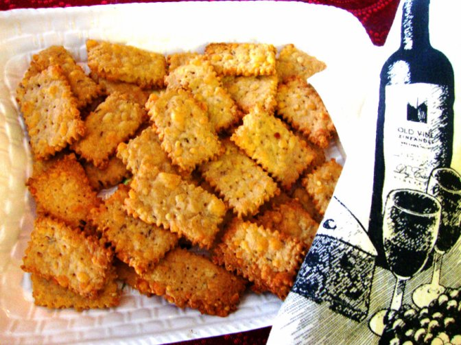 Rustic Cheese Crackers