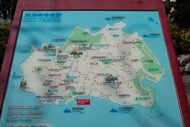 コロンス島案内図