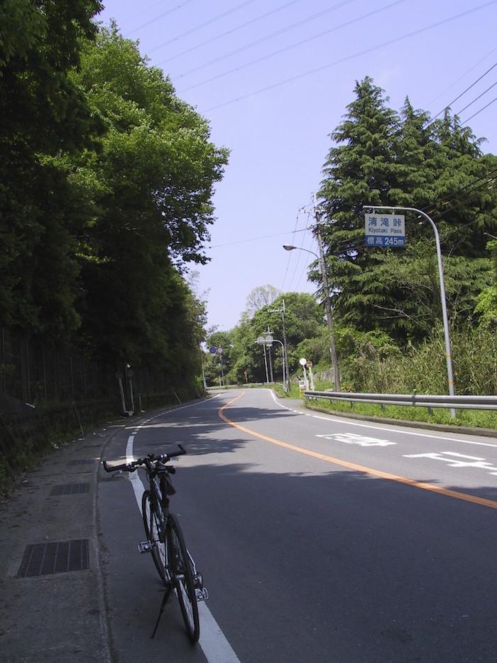 清滝峠を木津側から上る