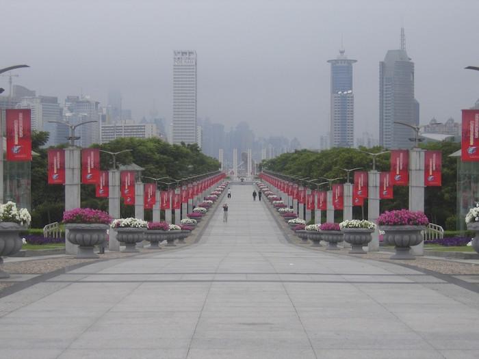 更に世紀公園側から上海科技馆站を向いて