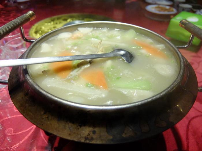 野菜が色々入ったスープ