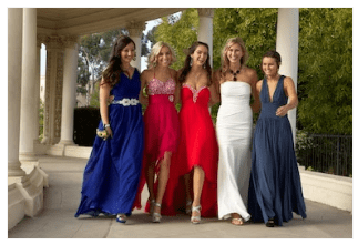 girls in prom dresses