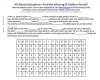 Education Worksheet - FREE Geography Worksheets for Kids