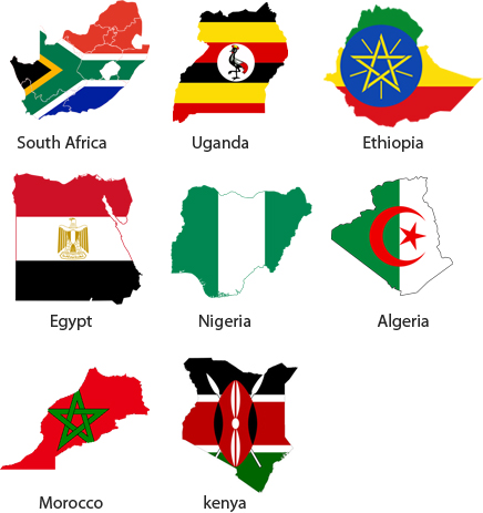 flags for african countries