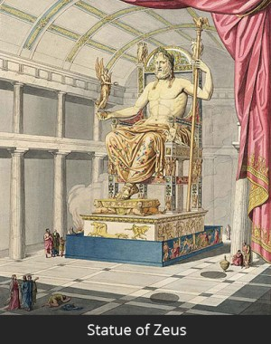 zeus statue olympia facts destroyed fun