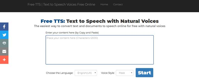 free text to speech online with natural voices