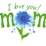 I Love You Mom (Flower) – Premium T-Shirt or Hoodie