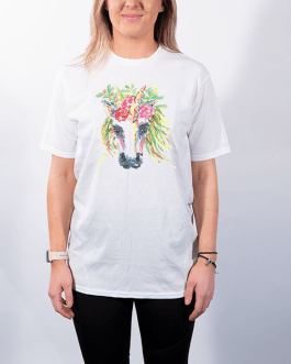 Floral Unicorn (Front) – Premium T-Shirt or Hoodie