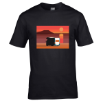 Motorhome, Beach, Sunset – Premium T-Shirt or Hoodie