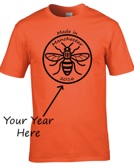 Manchester Bee – Made in Manchester (Add Your Own Year)
