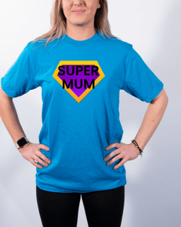 Super Mum (Gold/Purple) – Premium T-Shirt or Hoodie