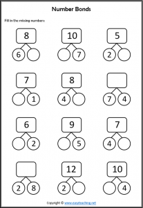 Subtraction Addition Skill Practice • EasyTeaching.net