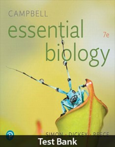 Campbell Essential Biology 7th Edition Test Bank By Simon