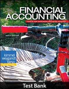Financial Accounting Tools for Business Decision Making 9th Edition Test Bank By Kimmel