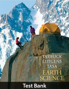 Earth Science 12th Test Bank By Tarbuck