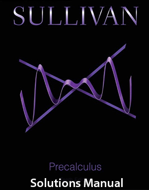 Precalculus 10th Edition Solutions Manual By Sullivan