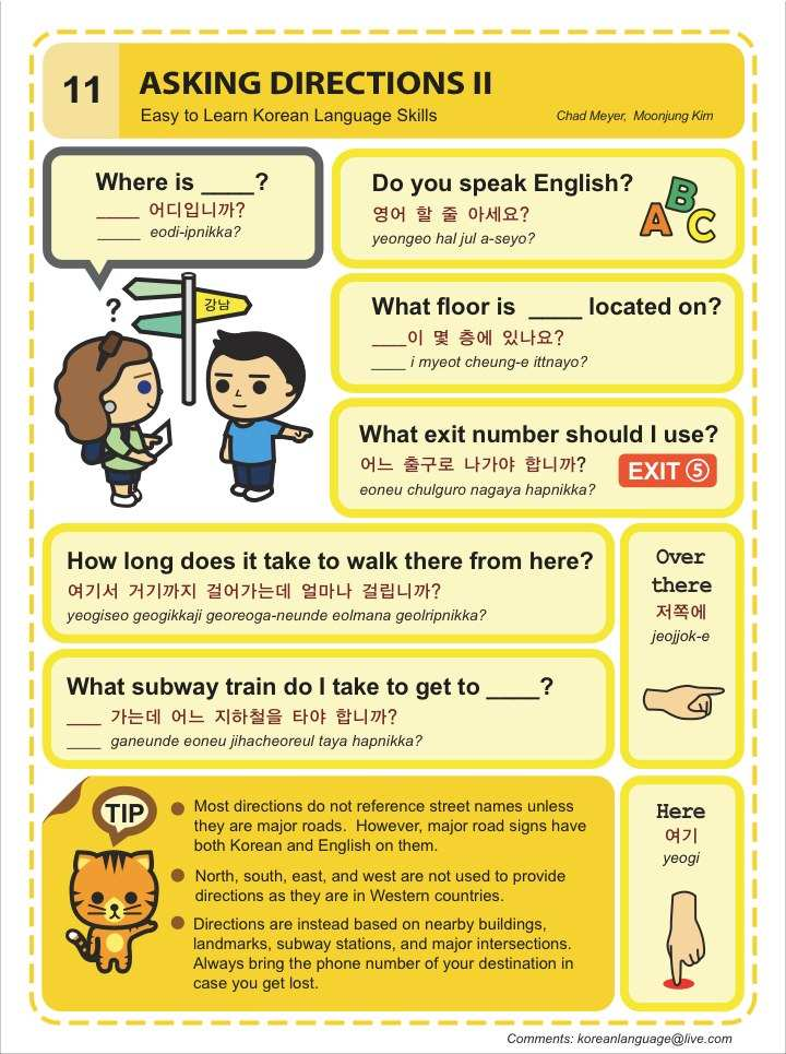 Learn To Read Cvc Words Middle O See And Write: Easy To Learn Korean 10-11 – Asking Directions