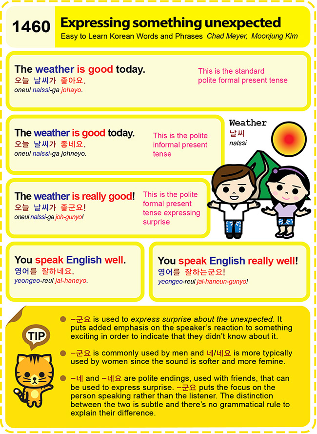 Easy to Learn Korean 1460 – Express something unexpected