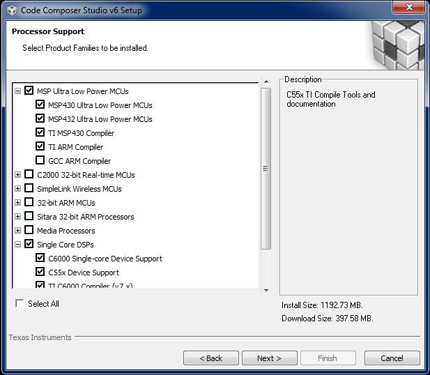 MSP430 Lab 01 – Instalação do Code Composer Studio e teste