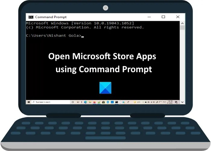 open microsoft store apps command prompt