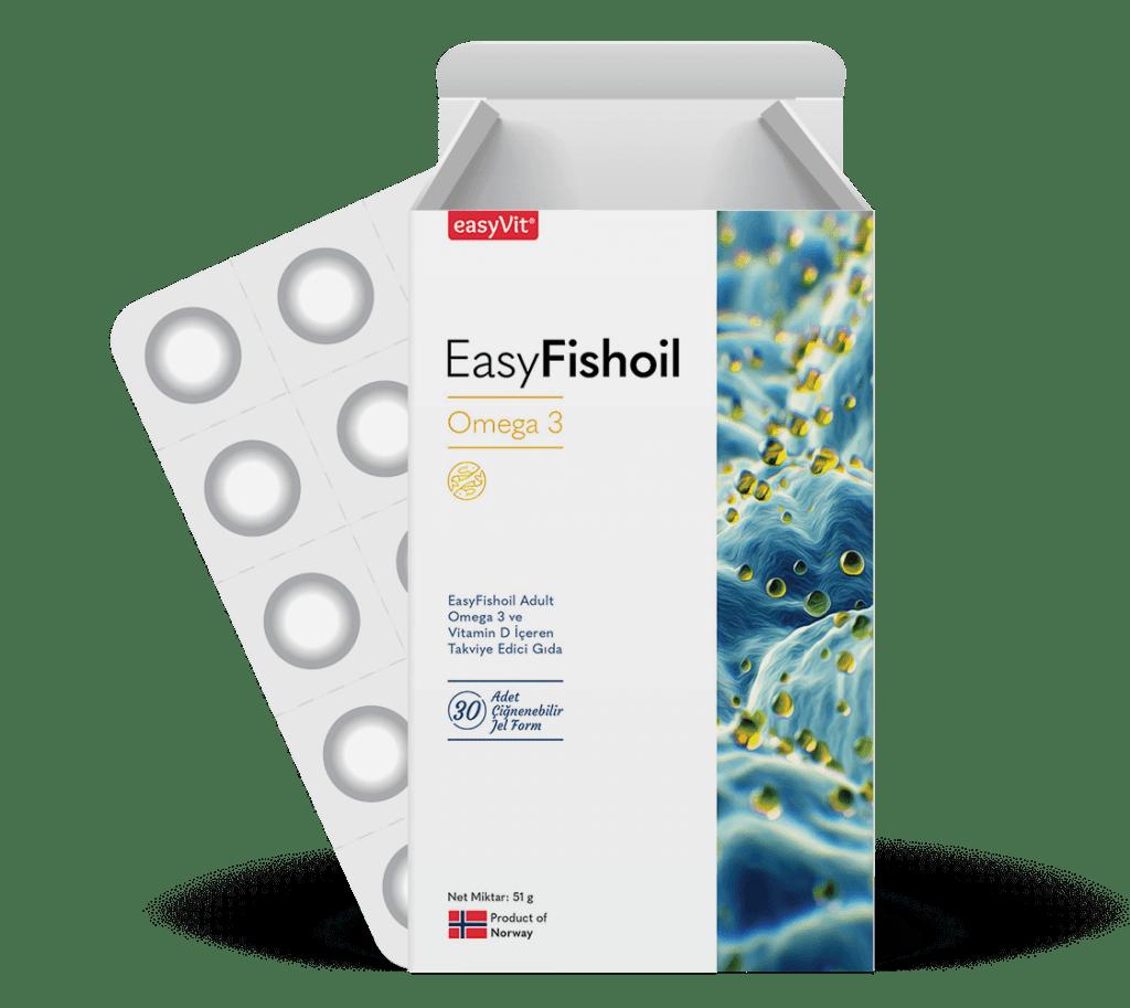 EasyFishoi Yetişkinler için çiğnenebilir Omega-3