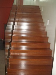 Narra Stair (concrete covered with Veneer Wrapping)
