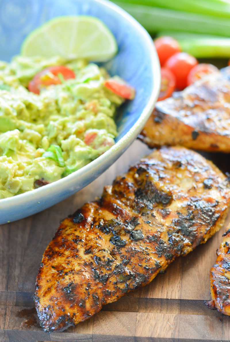 This Grilled Jalapeno Lime Chicken is a quick and easy meal with out of this world flavor! This is the perfect grilled chicken for tacos, nachos and wraps!