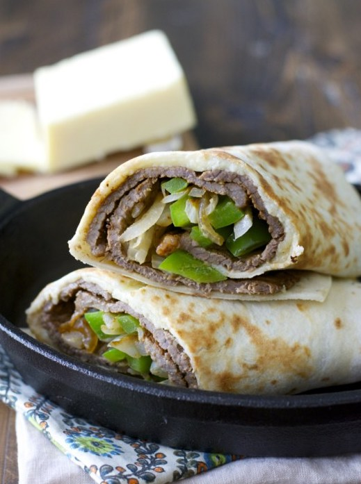 This Easy Steak and Cheese Wrap can be prepared in just a few minutes! This is the perfect quick and easy dinner or lunch recipe!