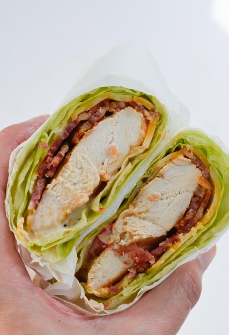 Healthy Chicken Bacon Ranch Lettuce Wrap