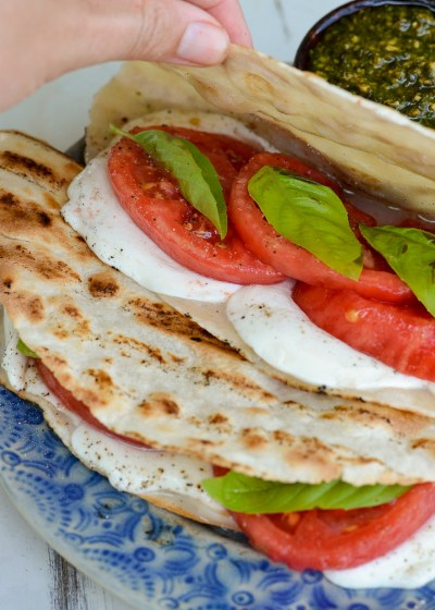 This Grilled Caprese Quesadilla requires just 4 basic ingredients and creates the perfect easy Summer meal!