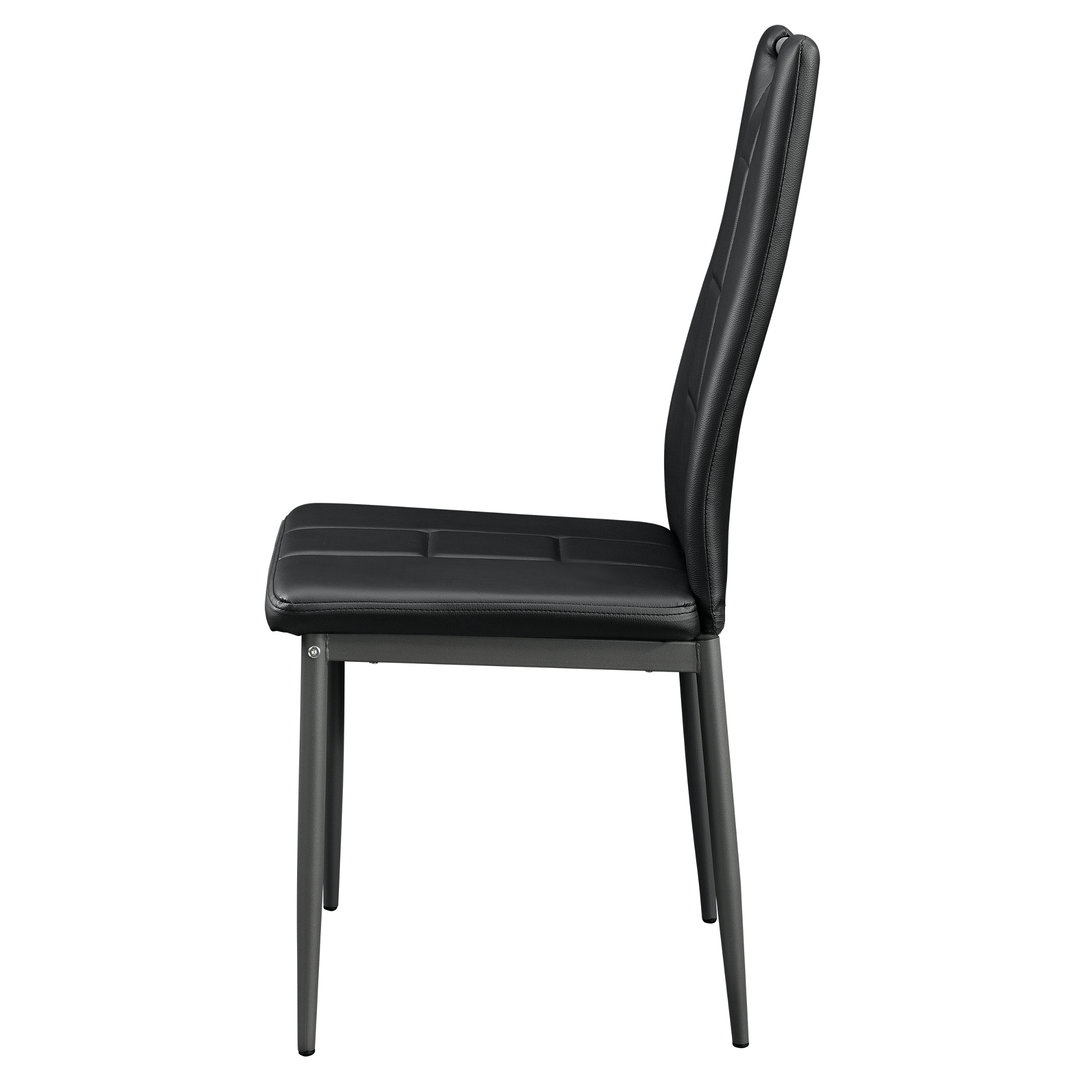 Black Leather Dining Room Chairs En Casa 6 X Chairs Black High Back Dining Room Faux