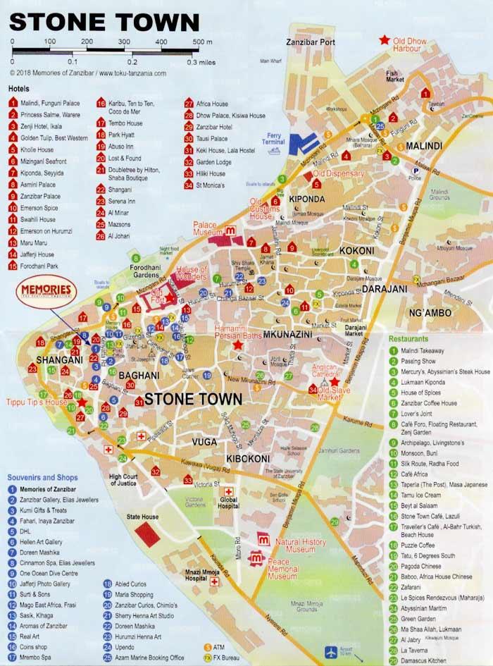 mappa stone town
