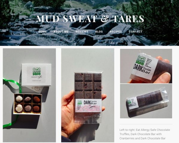Eat Allergy safe product review by blogger Beth Heddle of gluten free chocolate truffles
