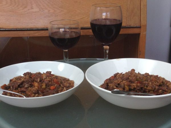 Leftover Roast Lamb Risotto gluten free nut free dairy free egg free wine