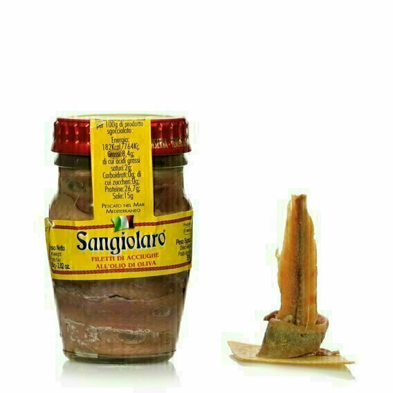 Filets d'anchois à l'huile d'olive 80g