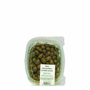 Olives Leccino assaisonnées dénoyautées 200g