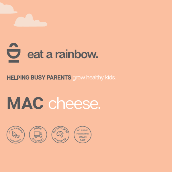 Mac cheese eat a rainbow sticker