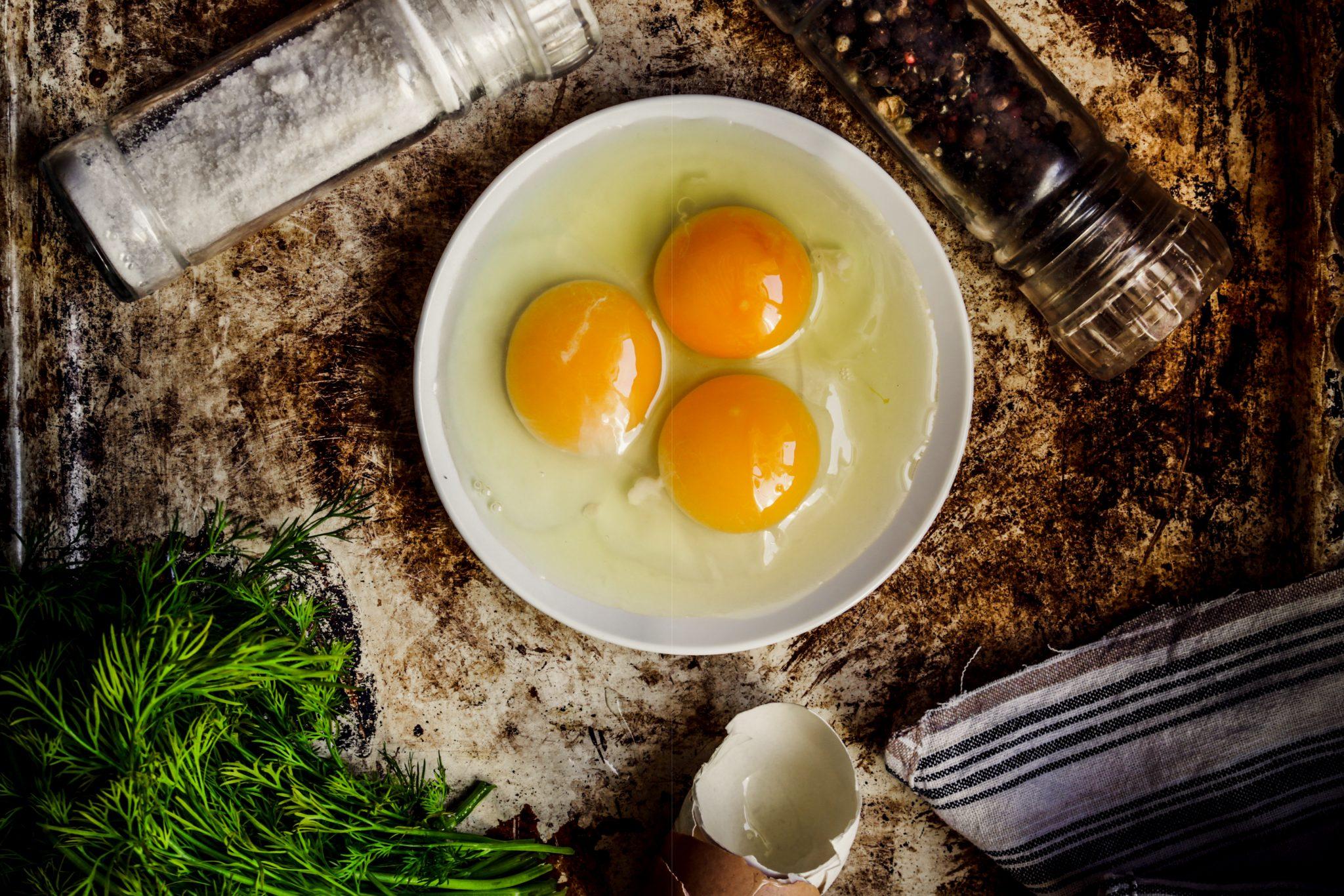 卵黄が3つ