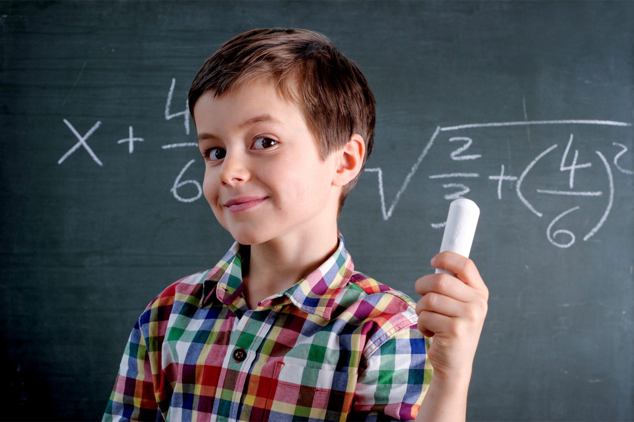 算数を解いた頭のいい子ども
