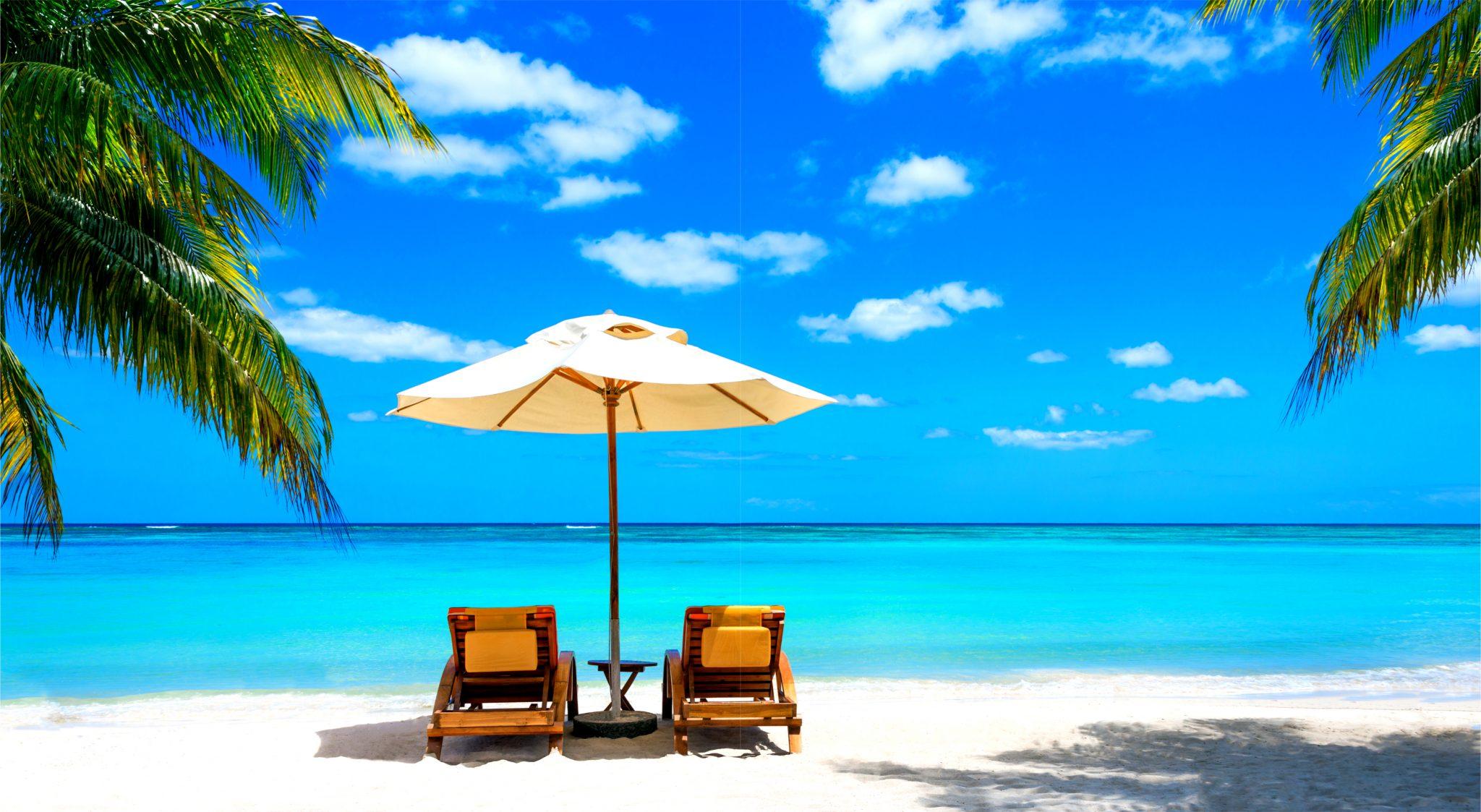 常夏のビーチ