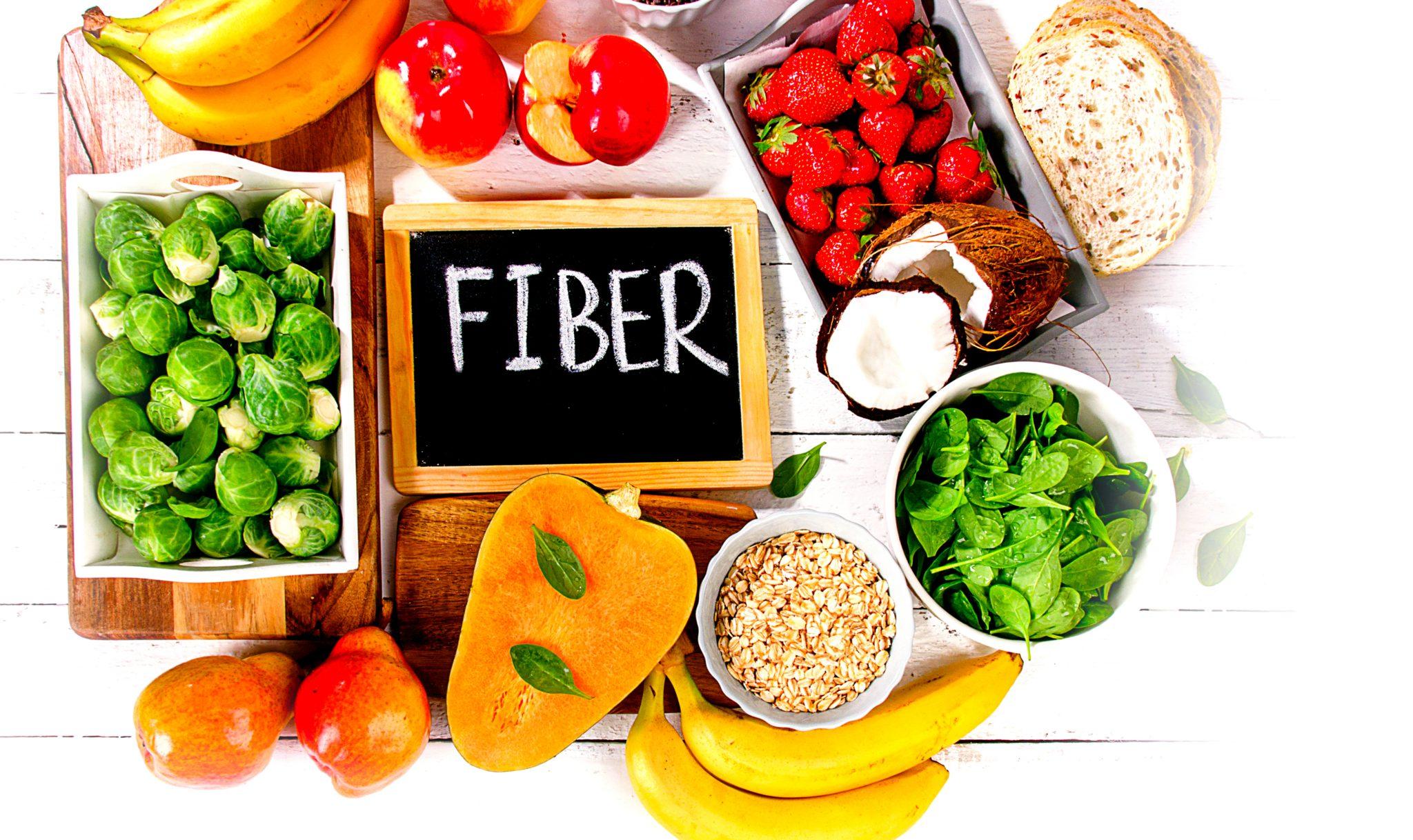 食物繊維の食べ物の図