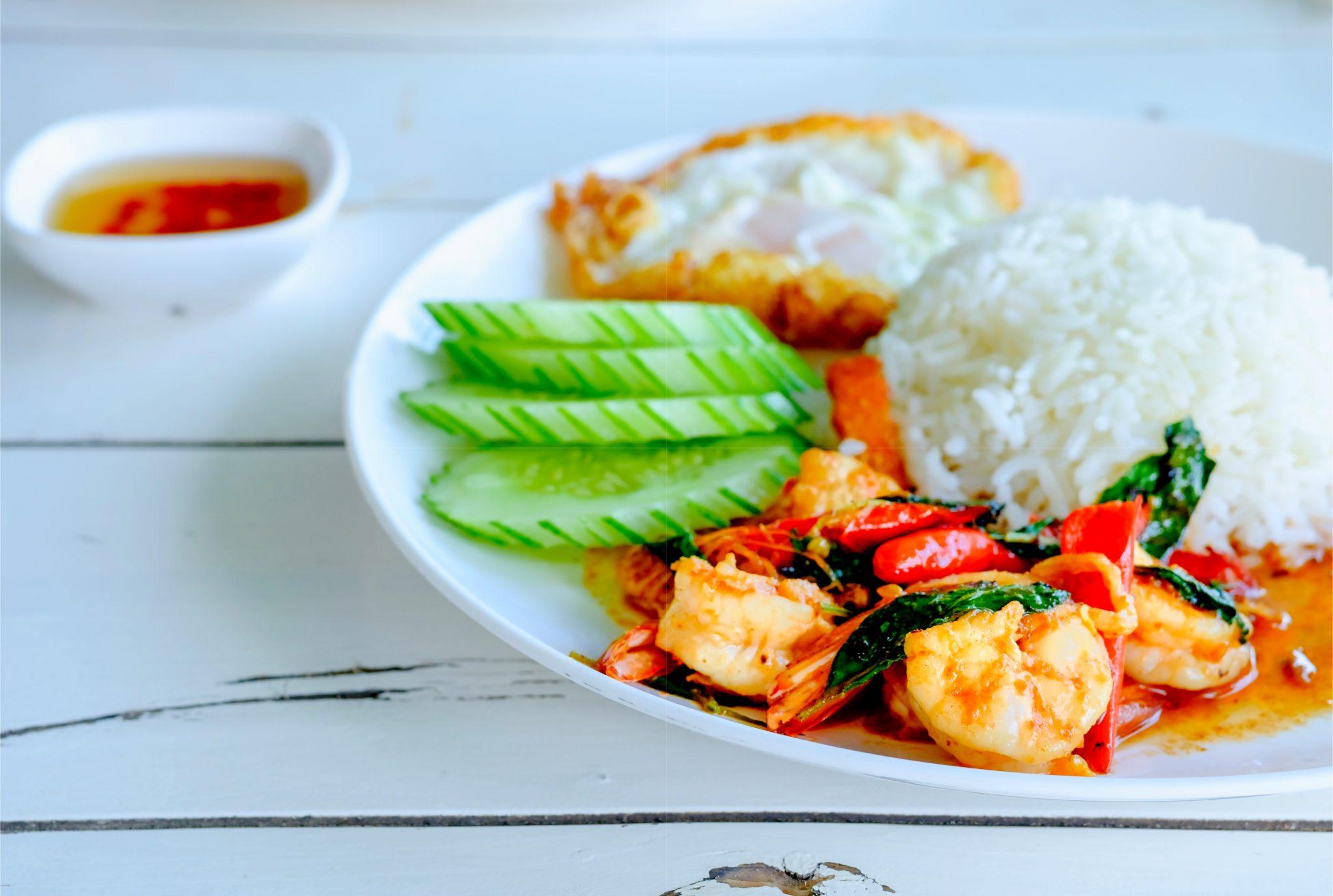タイ米を使ったタイ料理