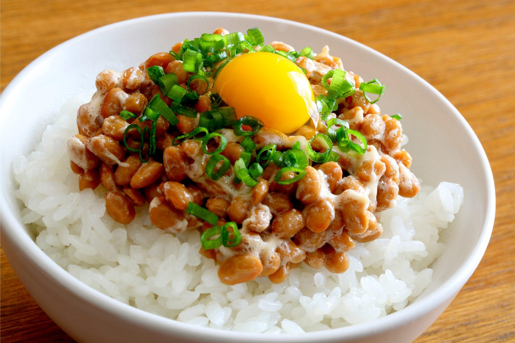 卵かけ納豆ご飯