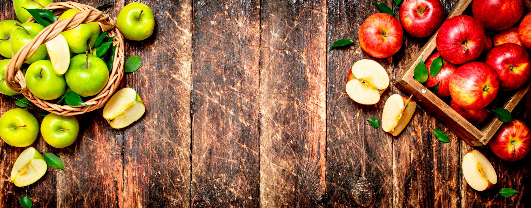 青りんごとリンゴ