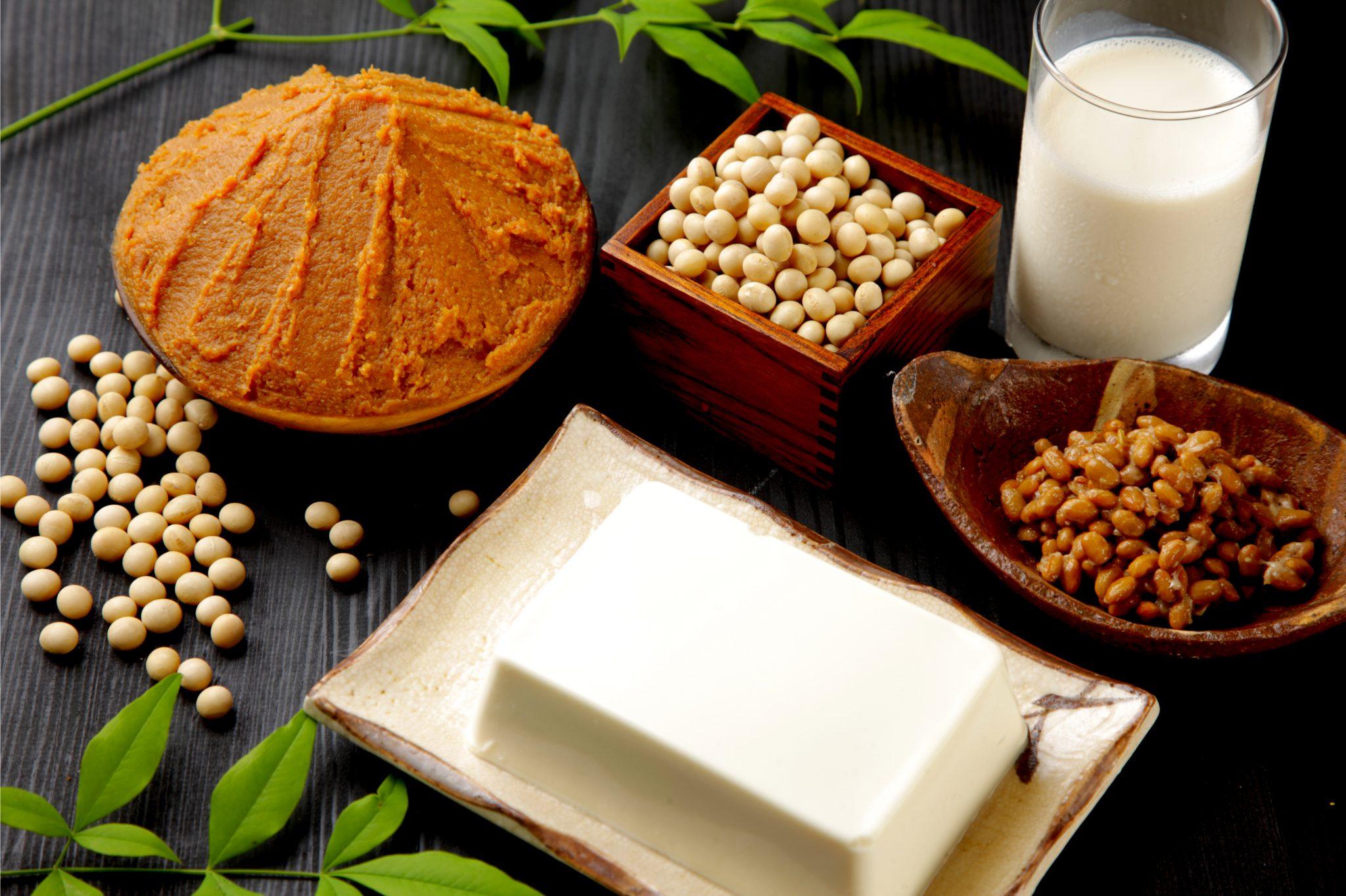 豆腐や納豆、味噌などの大豆製品