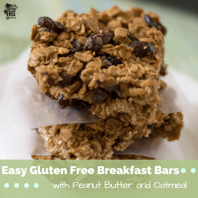 Easy Gluten Free Breakfast Bars With Peanut Butter And Oatmeal