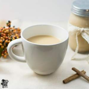Homemade Pumpkin Spice Coffee Creamer | https://eatatourtable.com