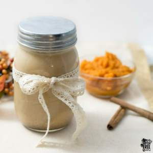 Homemade Pumpkin Spice Coffee Creamer | https://eatatourtable.com