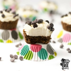 Chocolate Chip Cookie No Bake Cheesecakes