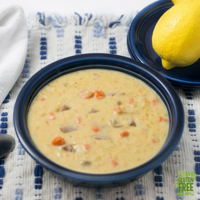 Gluten Free Turkey Soup- Greek Style with Lemon